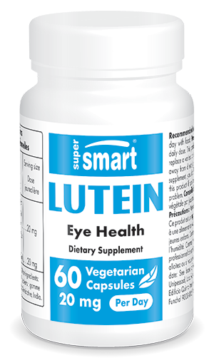 Lutein 20 mg | GMO & Gluten Free | Eye Health Supplements - Against Macular Degeneration | 60 Vegetarian Capsules - Supersmart