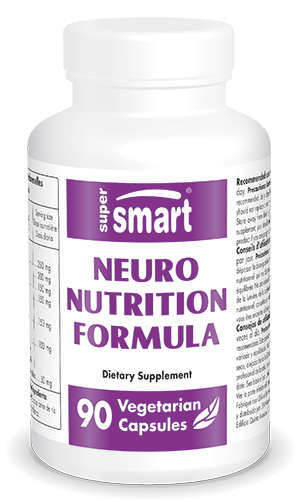 Neuro-Nutrition Formula | Made in USA | GMO & Gluten Free | Brain Supplement for Helathy Cognitive Function | 90 Vegetarian Capsules - Supersmart