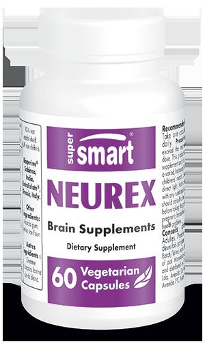 Neurex | Made in USA | GMO & Gluten Free | Best Brain Health Supplement - Anti Aging & Antioxidant | 60 Vegetarian Capsules - Supersmart