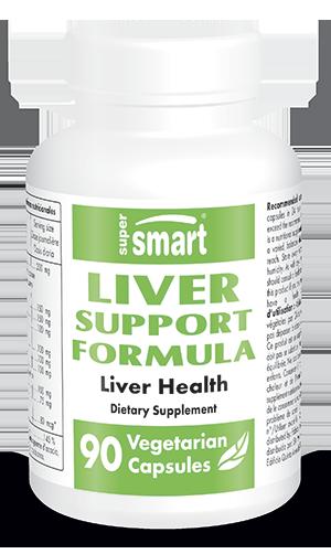 Liver Support Formula Supplement | Made in USA | GMO & Gluten Free | Herbs for Liver Health, Detox, Regeneration | 90 Vegetarian Capsules - Supersmart