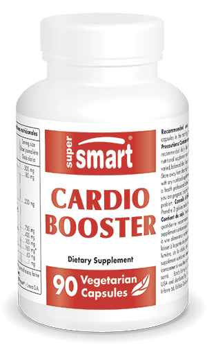 Cardio Booster | Made in USA | GMO & Gluten Free | Supplements for Cardiovascular Health - with CoQ10 & Taurine | 90 Vegetarian Capsules - Supersmart