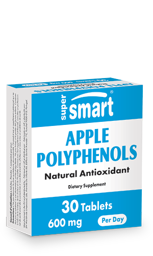 Apple Polyphenols 600 mg | GMO & Gluten Free | Antioxidant & Anti Aging Supplements - Support Normal Blood Sugar Level | 30 Tablets - Supersmart