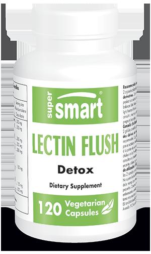 Lectin Flush | GMO & Gluten Free | Best Detox Supplements - Digestive Health Supplements | 120 Vegetarian Capsules - Supersmart