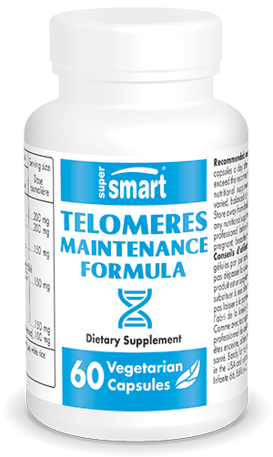 Telomeres Maintenance Formula | Made in USA | GMO & Gluten Free | Best Telomere Supplement for Longevity | 60 Vegetarian Capsules - Supersmart
