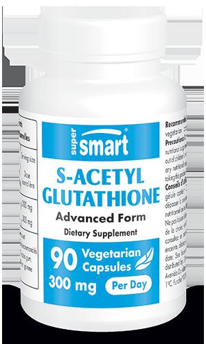 S-Acetyl Glutathione 100 mg | GMO & Gluten Free | Antioxidant & Detox Supplement - Healthy Immune System | 90 Vegetarian Capsules - Supersmart