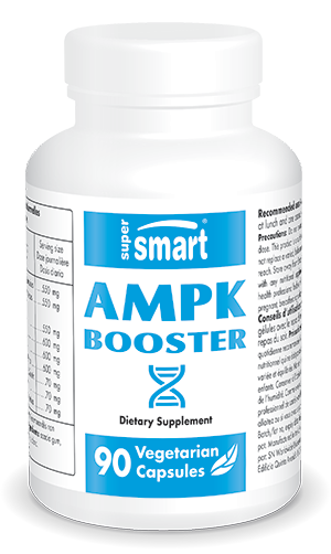 AMPK Booster Supplement | Made in USA | GMO & Gluten Free | Metabolic Activator, Life Extension - Weight Control | 90 Vegetarian Capsules - Supersmart