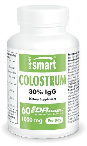 Colostrum 1000 mg Per Day | Made in USA | GMO & Gluten Free | Supplement with 30% Immunoglobulins (IgG) - Immune System Booster | 60 DR Capsules - Sup