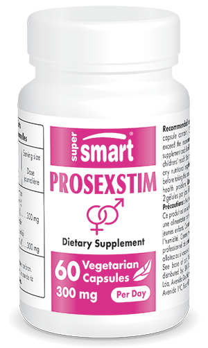 Prosexstim | GMO & Gluten Free | Natural Aphrodisiac Herbs - Vigour & Performance for Men | 60 Vegetarian Capsules - Supersmart
