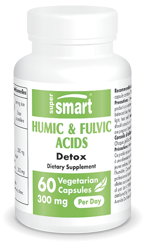 Humic & Fulvic Acids 150 mg | Made in USA | GMO & Gluten Free | Detox Supplement - Immune System Booster | 60 Vegetarian Capsules - Supersmart