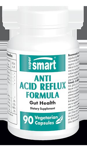 Anti-Acid Reflux Formula | 90 Veg. Caps. - Supersmart