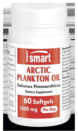 Arctic Plankton Oil 500 mg | GMO & Gluten Free | Omega 3 (EPA + DHA & SDA) High Levels - Cardiovascular System Health | 60 Softegels - Supersmart
