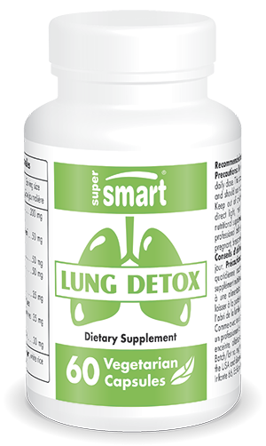 Lung Detox Supplement | Made in USA | GMO & Gluten Free | Natural Anti Inflammatory & Detox Complex for Lung Health | 60 Vegetarian Capsules - Supersm