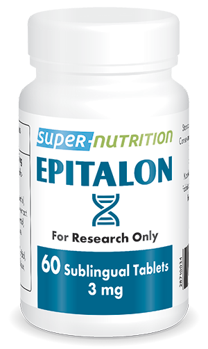 Epitalon 3 mg | Made in USA | GMO & Gluten Free | Rejuvenating & Longevity Stimulator - Peptide Supplements | 60 Vegetarian Capsules - Supersmart