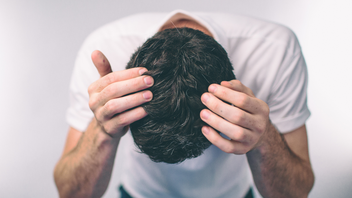 Man's scalp with hair loss