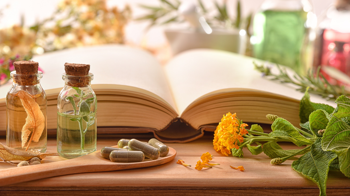 Book of spells and plants for boosting the immune system